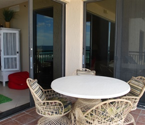 Balcony View - Living Room and Master Bedroom